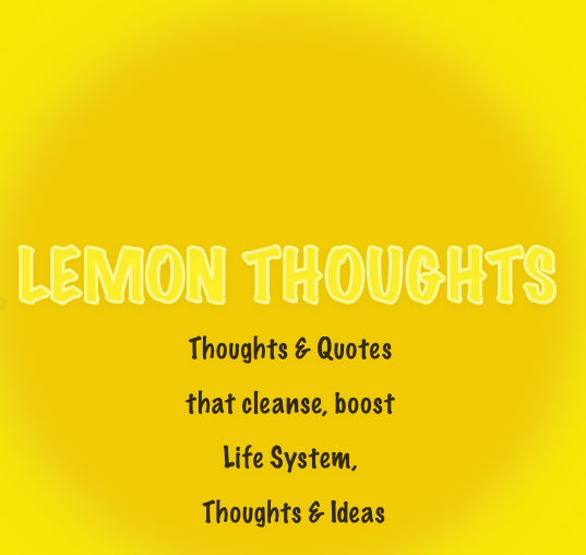Lemon Thoughts